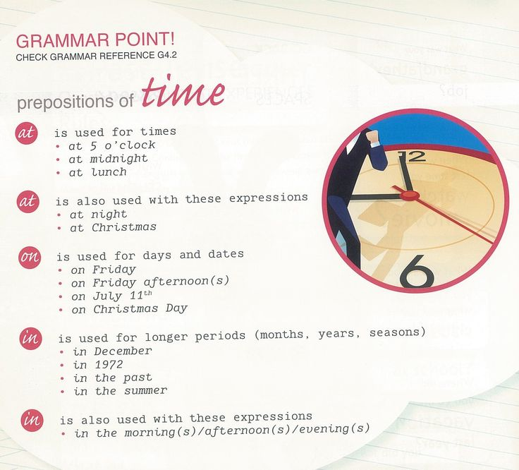 Prepositions of Time. At, On & In