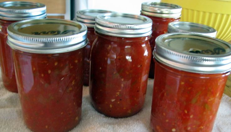 Home canned salsa fresh from the garden is great not only for chips and snacking, but as an ingredient in chili and other spicy dishes.