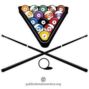 Billiard equipment vector image