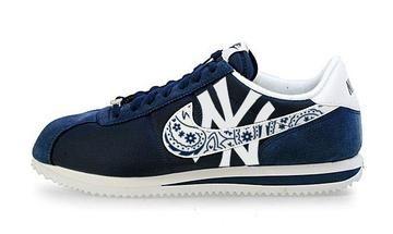 a377c060 Bandana Fever Bandana NY Yankees Big Print Custom Navy/White Nike Cortez  Shoes