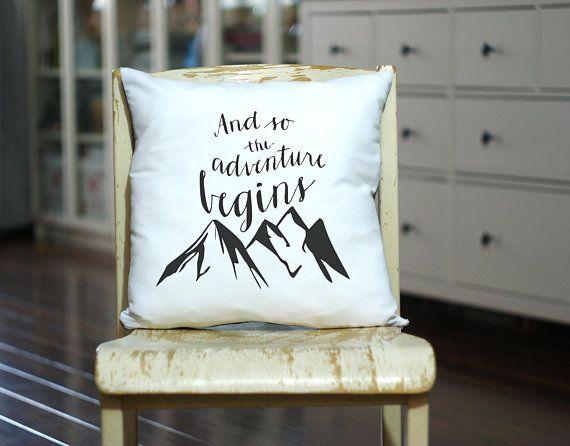 Adventure Begins Custom Made Pillow - Mountains Range Pillow - And so adventure begins