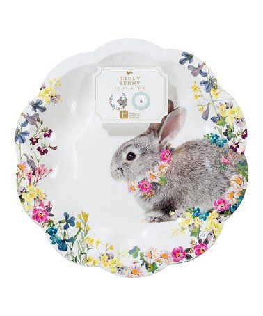 be45763cfe12 Truly Bunny Paper Plate - Set of 12 #zulily #zulilyfinds | Party ...