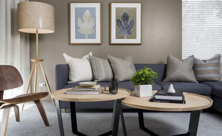 Loving this Denim blue/grey. Floor Lamp, sofa, coffee tables all avail at #vmdesign.com.au