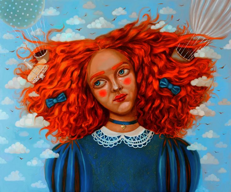 Head in the clouds #oiloncanvas #painting #illustration #oilpainting