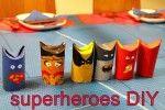 Hobby med barn: Superhelter laget av dorullhylser