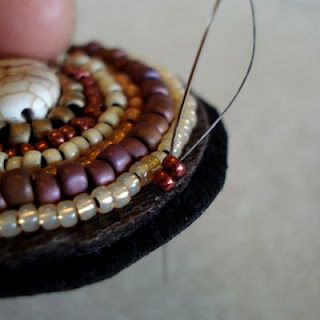 Step by Step Tutorial - Beaded Brooch on Felt