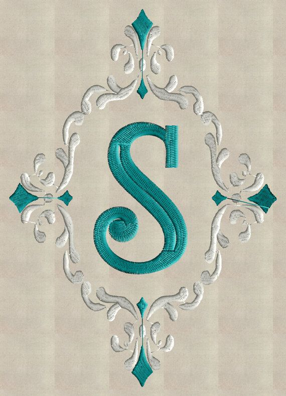 Font Frame Monogram Embroidery Design - Font not included - EMBROIDERY DESIGN FILE - Instant download - Dst Hus Jef Pes formats