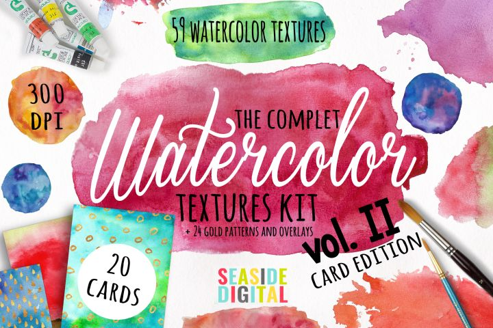 Watercolor Textures - card edition - Free Design of The Week Design