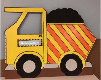 2 anniversaire construction camion à benne par LittleGoobersParty