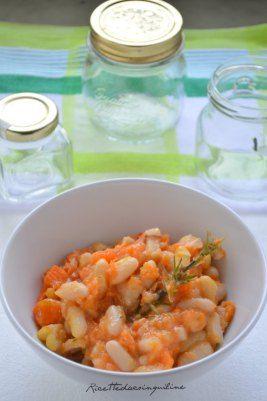 Zuppa di fagioli e zucca!  Pumpkin and beans soup!