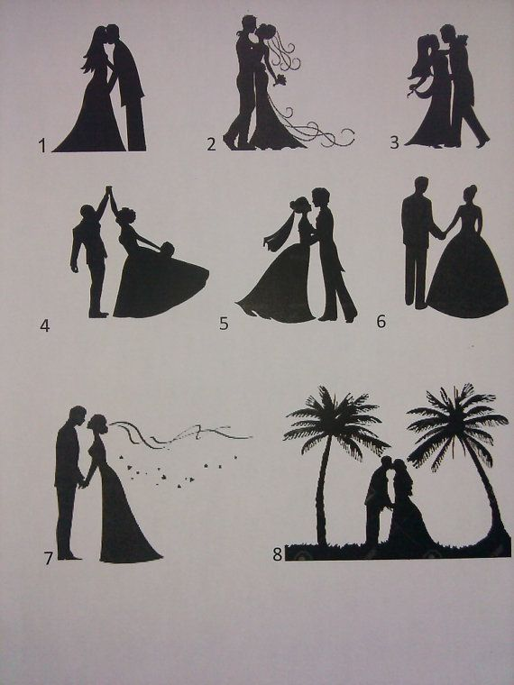 Labor Day wedding Fireworks with bride and groom!! You can choose your bride and groom silhouettes to fit your taste. This is a hand drawn
