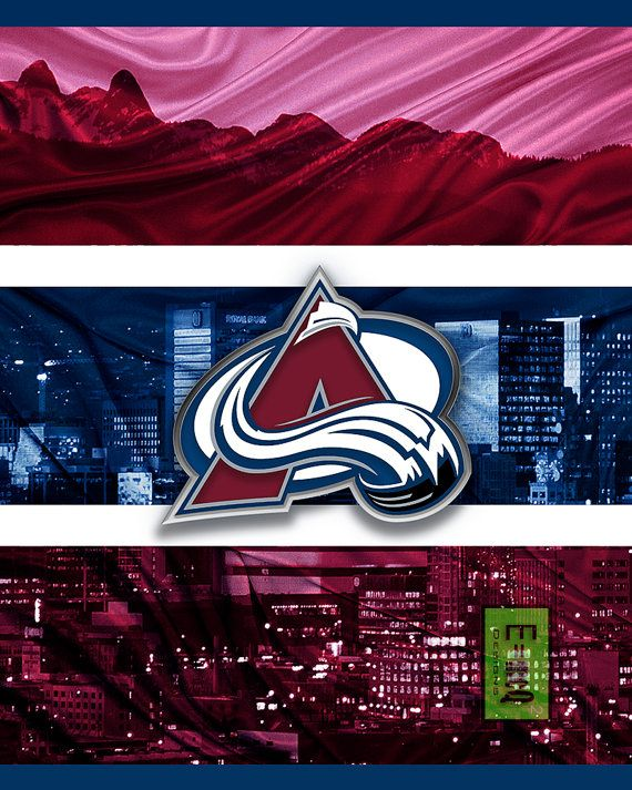 Colorado Avalanche Art Avalanche Poster Colorado by McQDesign
