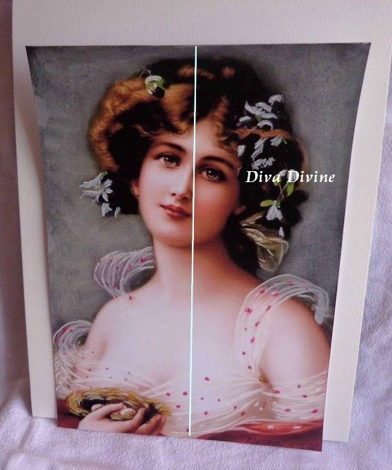 Peinture Peinture au Pastel pour Tableau Victorien, Portrait ° ELEONORE - PEINT A LA MAIN
