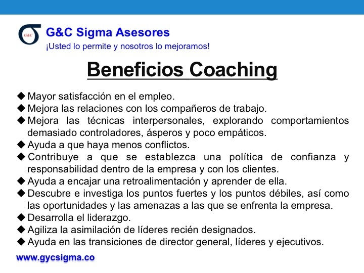 Beneficios Coaching Empresarial