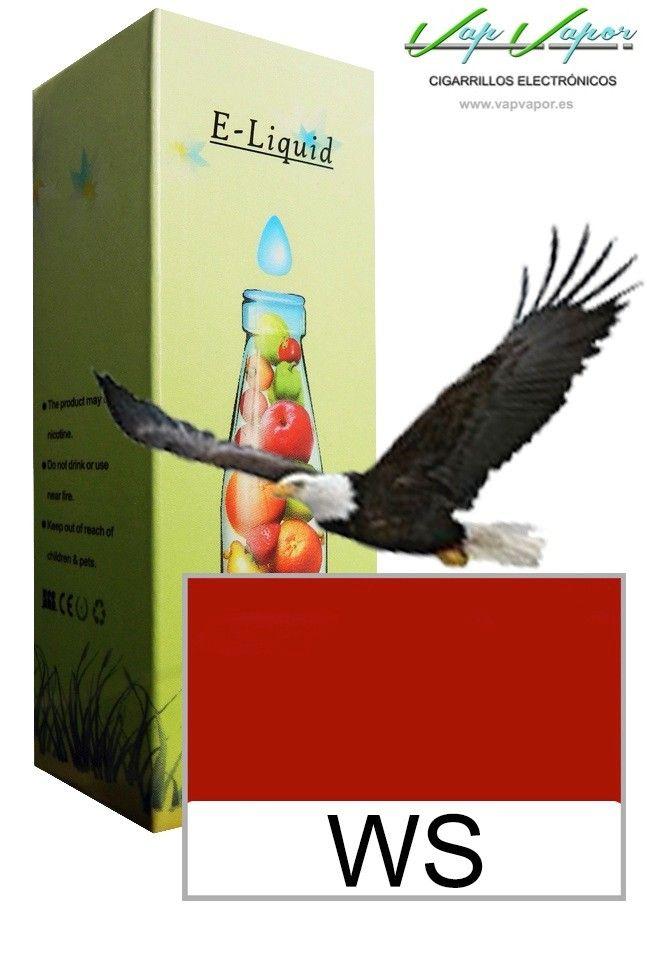 e-liquid WS  http://www.vapvapor.es/liquido-tabaco-cigarrillo-electronico   Líquidos para cigarrillos electrónicos de la marca e-liquid. Nuestra marca e-liquid se caracteriza por su gran variedad de aromas y sabores.     - e-liquid sabor WS (tabaco)     - Categoría: tabaco