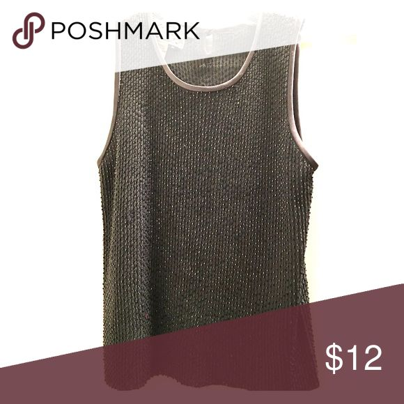Beaded Grey Tank Top Beautiful but simple grey tank top with silver beading. Perfect for layering with a fall jacket or to wear alone! Tops Tank Tops