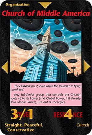 Illuminati Card Game only Published in 1995 - CHURCH OF MIDDLE AMERICA illuminati card game