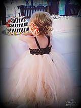 Detské oblečenie - broskyňové potešenie - tutu šaty s podšívkou - 5718107_