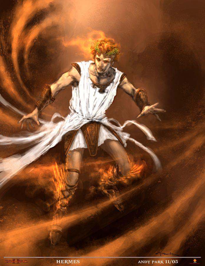 Griekse god - Hermes Hij was de god van Handel en Verkeer.