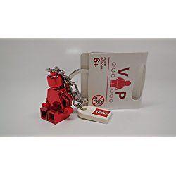 LEGO Red Chrome Valentines Day VIP Minifigure Minifig Keychain