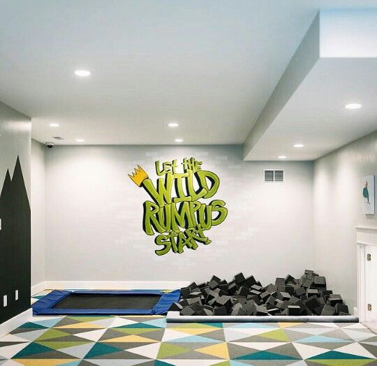 Trampoline And Foam Pit Millhavenhomes Kid S Room