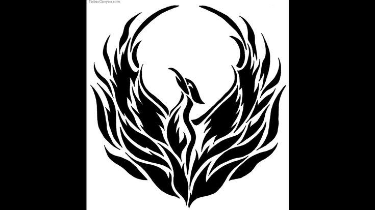 Bird Outline Tattoo 5211-phoenix-bird-tattoo-style-stencil-outline ...