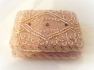 felt custard cream biscuit