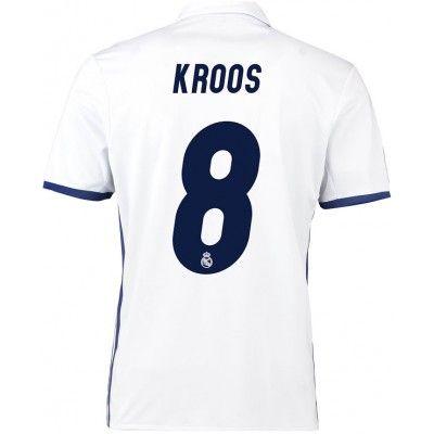 Real Madrid 16-17 Toni Kroos 8 Hjemmebanetrøje Kortærmet.  http://www.fodboldsports.com/real-madrid-16-17-toni-kroos-8-hjemmebanetroje-kortermet.  #fodboldtrøjer