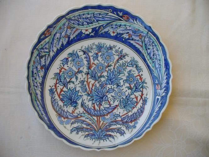 Fatma Zehra Aktaş....30cm...çinı tabak...özgün kompozisyon
