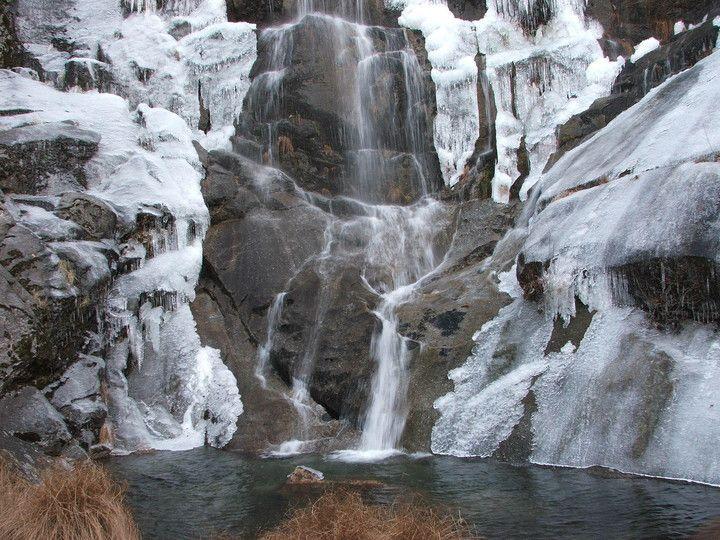 Jardin de hielo en tierras del Jerte