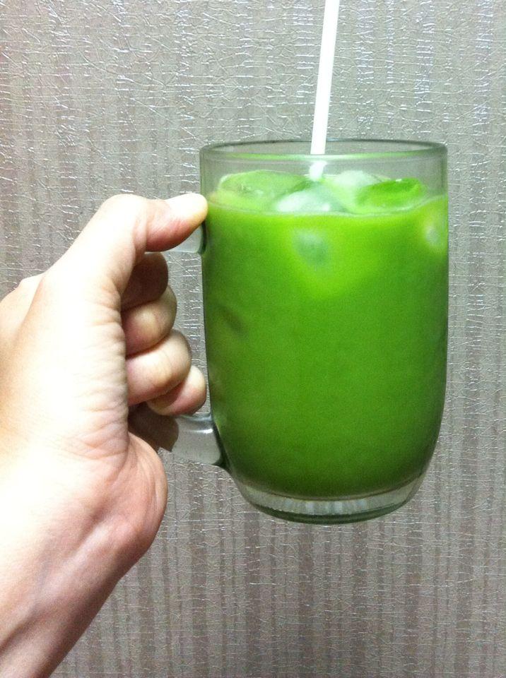 Iced Milk Green Tea by Me