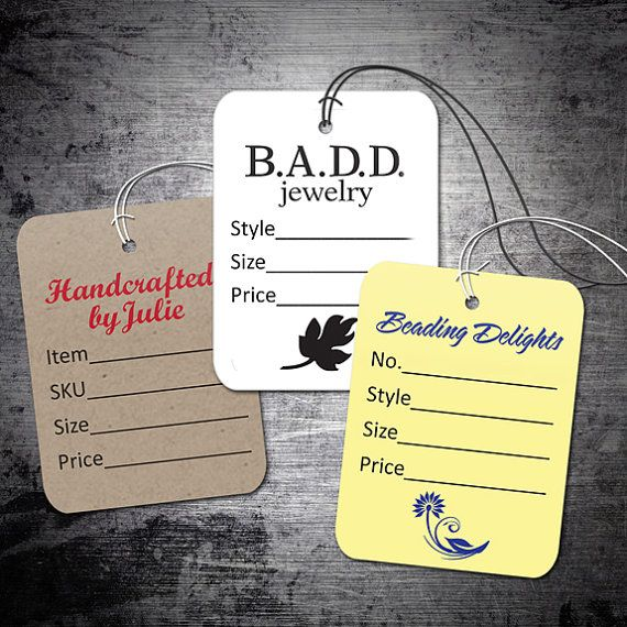 Custom Small Price Tags 1.5x2-inches - Personalized with your own logo or artwork