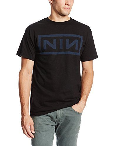Bravado Men's Nine Inch Nails Navy T-Shirt ,Black, Medium. By: Nine Inch  Nails.