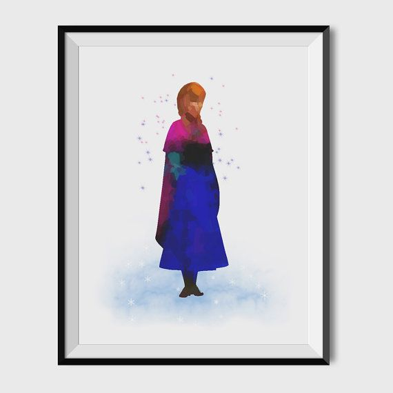 PRINCESS ANNA art print Frozen art print by FunkiMunki4Kidz