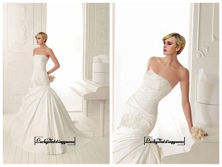 Amazing Satin Mermaid Strapless Neckline Drop Waist Wedding Dress With Beaded Lace Appliques http://www.ckdress.com/amazing-satin-mermaid-strapless-neckline-drop-waist-wedding-dress-with-beaded-lace-appliques-p-1585.html  #wedding #dresses #party #Luckyweddinggown #Luckywedding #design #style #weddingdresses #bridaldresses #love #me #cute #beautiful #girl #shopping #lovely #clothes #instagood #follow #fashion