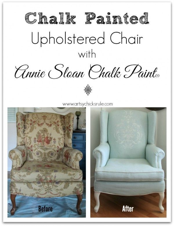 Chair Makeover, Upholstered Chairs And Paint Fabric On