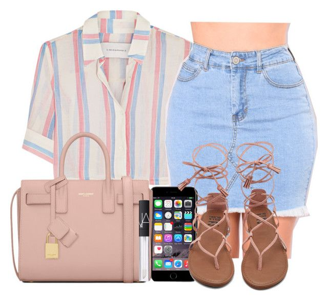 """The Cookout Outfit #2 "" by princessxeb ❤ liked on Polyvore featuring Solid & Striped, Dolce&Gabbana, Yves Saint Laurent and NARS Cosmetics"