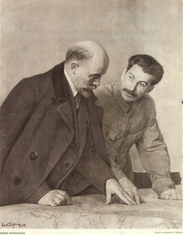 "STALIN: ""I am only a disciple of Lenin and my goal is to be worthy of his disciple"". #Lenin #Stalin #communism #revolution #Russia #USSR"