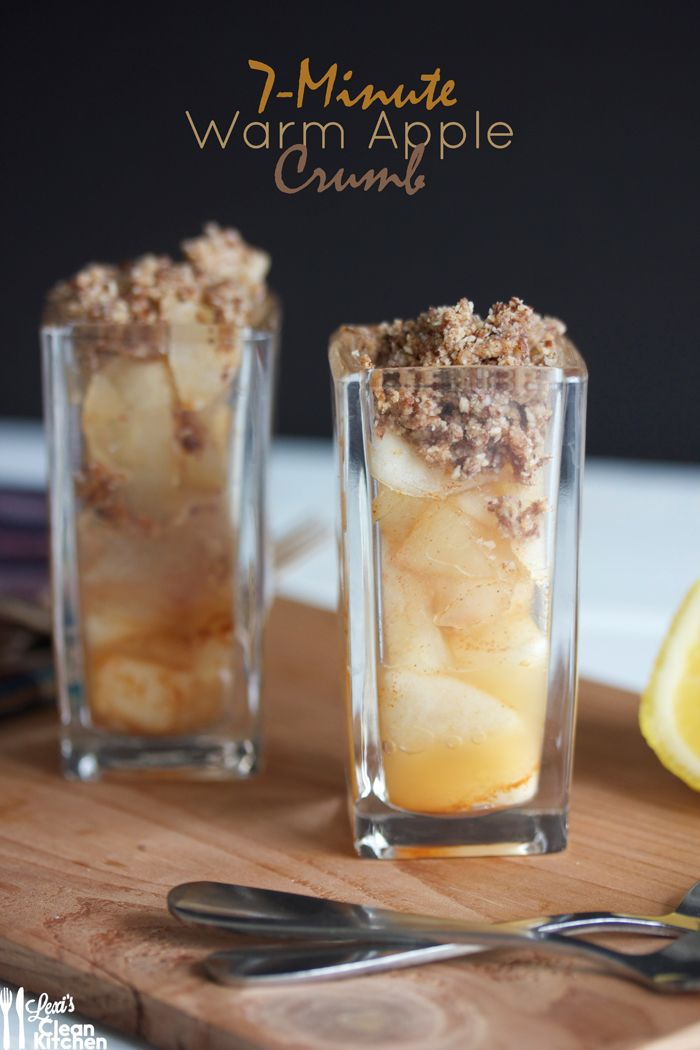 7-Minute Warm Apple Crumb Minis! Gluten-free, dairy-free, paleo - the perfect light, quick, and delicious treat
