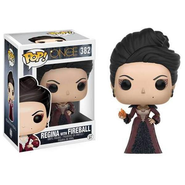 This is the Funko Once Upon A Time POP Regina With Fireball Vinyl Figure produced by Funko. Regina is looking pretty stellar in her Funko POP Vinyl form. So coo