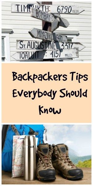 Really great #backpackers #tips you should know before any #backpacking #trip