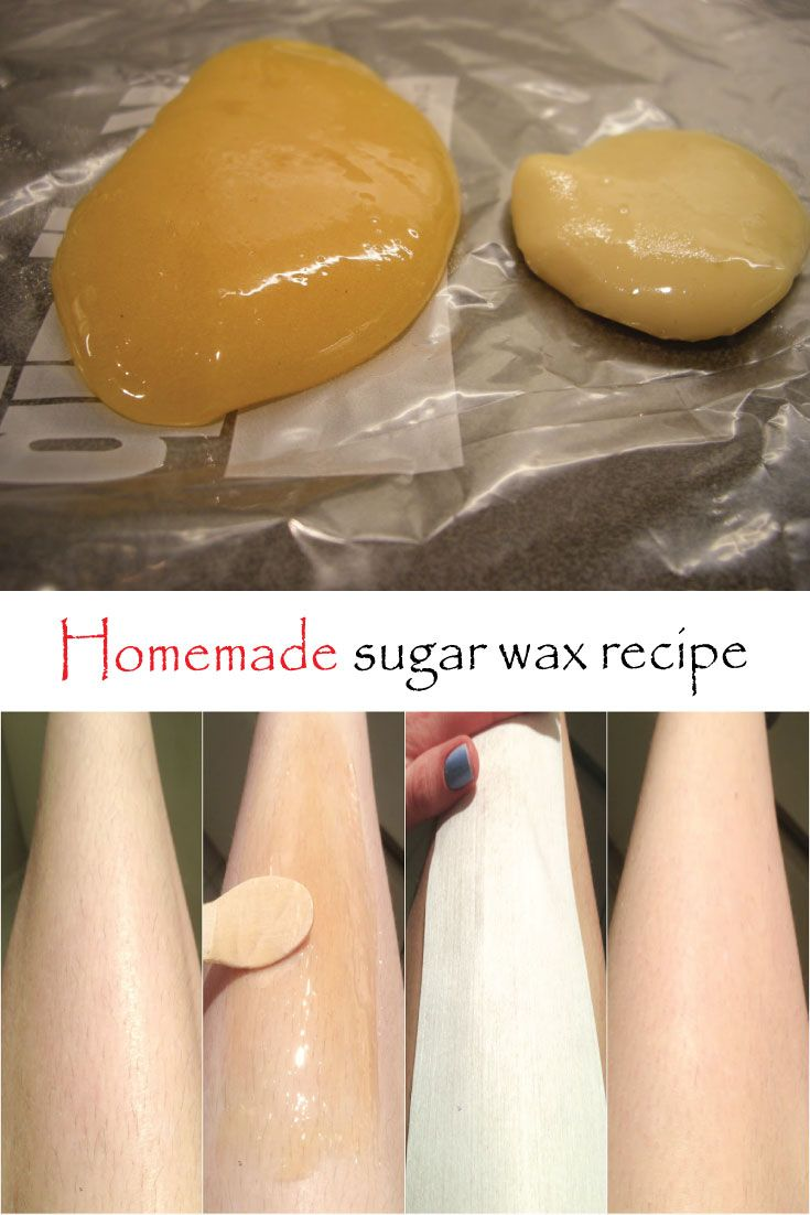 how to make clear wax strips