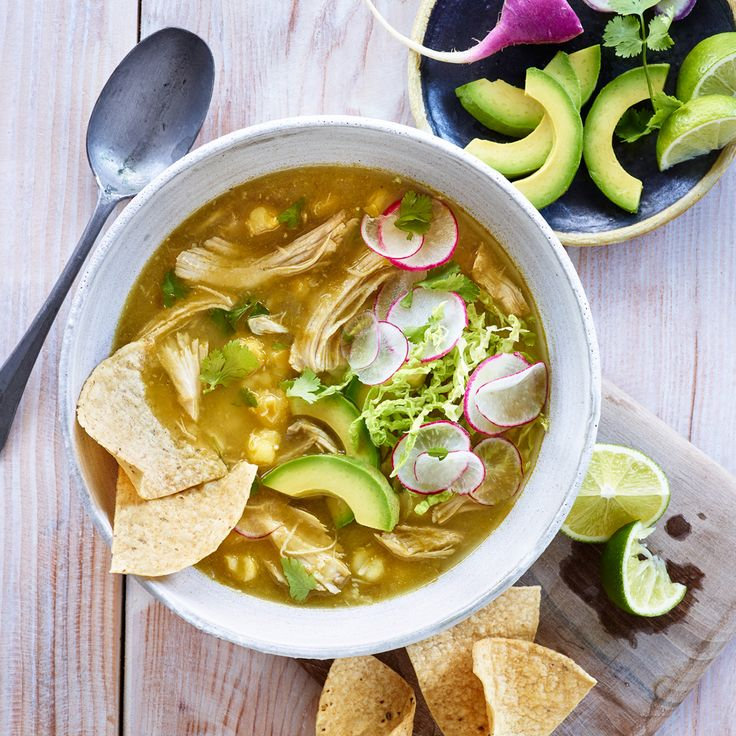 Slow-Cooked Turkey Posole with Avocado & Lime - Shady Brook Farms® turkey