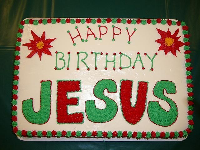 happy birthday Jesus cake - lettering.
