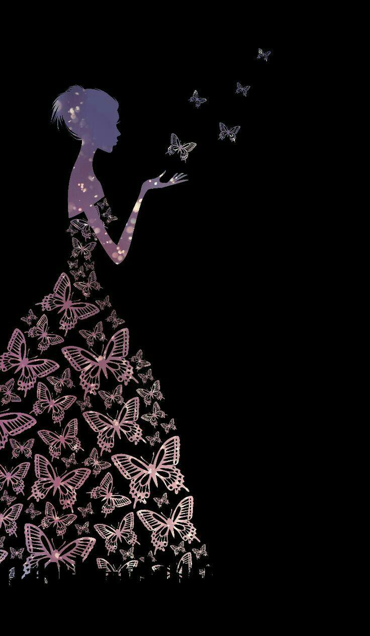 Pin By Silka On Black Art Butterfly Wallpaper Iphone Cellphone Wallpaper Pretty Wallpapers