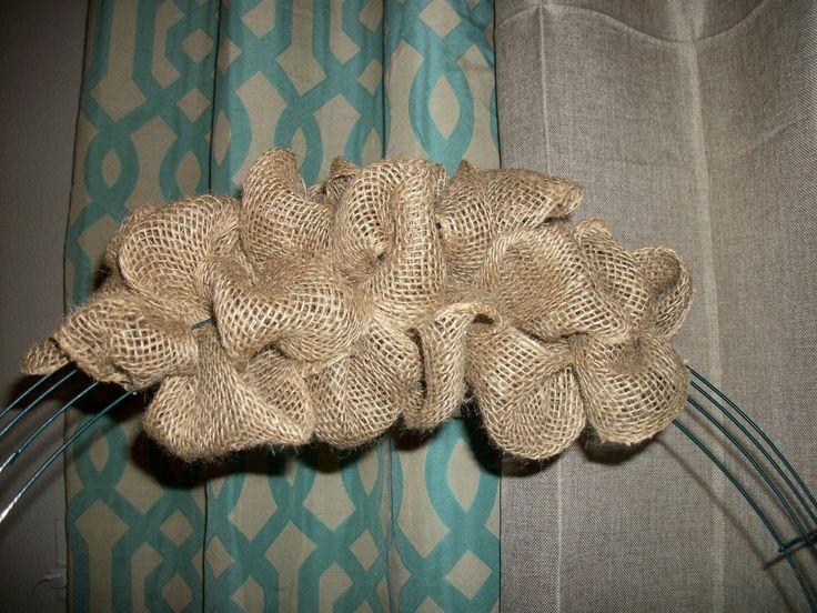 Fall wreath DIY Burlap Weaving Tutorial