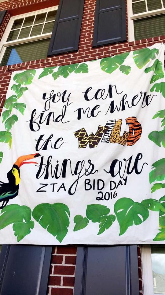 Zeta Chapter had a safari-themed Bid Day