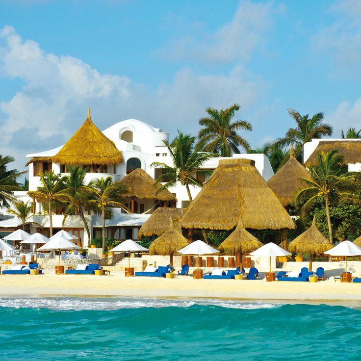 Belmond Maroma Resort & Spa Playa Maroma, Mexico Beach Beachfront Resort Romance Romantic sky water leisure Beach caribbean swimming pool Sea Water park Island amusement park tropics Lagoon swimming shore