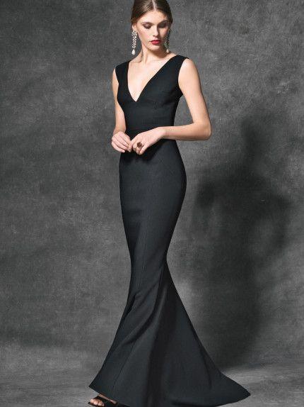 Outfit di capodanno - Dolce & Gabbana winter 2017 - Abito nero lungo