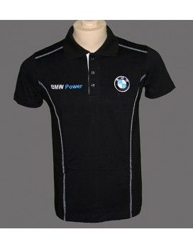 BMW T-Shirt With Collar with embroidered logos from http://autofanstore.com